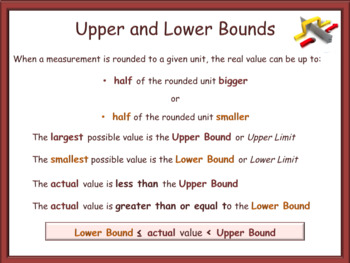 Upper and Lower Bounds - animated PowerPoint