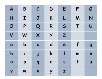 Upper and Lower Case Alphabet Flashcards