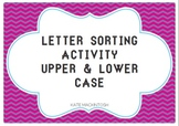 Upper and Lower Case Alphabet Letter Sorting