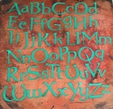 Upper and Lower Case Alphabet Letter Stencils for Posters