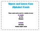 Upper / Lower Case Alphabet Matching Cards Go Fish Memory Kindergarten TEKS K.1B