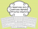 Upper and Lower Case Alphabet Handwriting Practice Sheets with and without Model