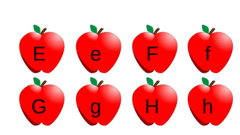 Upper and Lower Case Apples