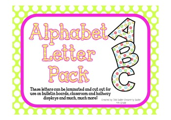 Upper and Lower Case Cut Out Alphabet Letters-PolkaDot
