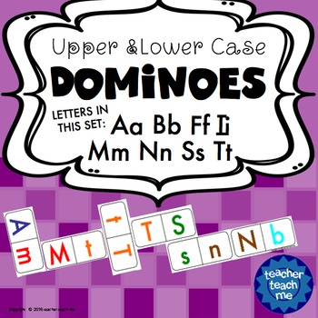 Upper and Lower Case Dominoes - Letters ABFIMNST