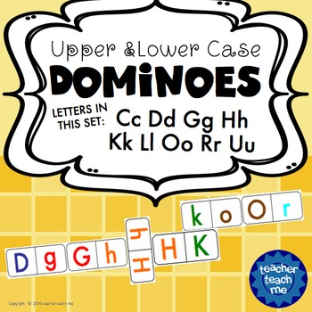 Upper and Lower Case Dominoes - Letters CDGHKLORU