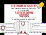 Letter Formation Practice Packs and Interactive PowerPoint