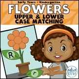 Upper and Lower Case Flowers Match (spring, literacy, morn