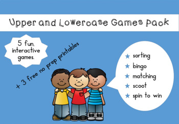 Upper and Lower Case Games Pack