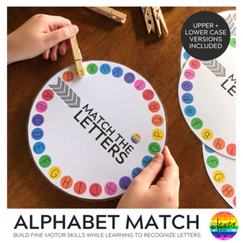 Upper and Lower Case Letter Circles
