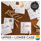 Upper and Lower Case Letter Match Activity Cards