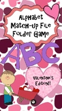 Upper and Lower Case Letter Match-File folder game, center