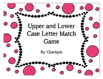 Upper and Lower Case Letter Match Game