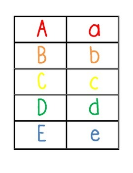 Colorful Letter Match