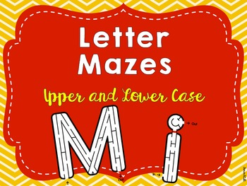 Upper and Lower Case Letter Mazes
