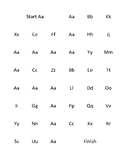 Upper and Lower Case Letter Trace Maze