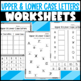 Upper and Lower Case Letter Worksheets and Sorts