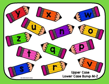 Upper and Lower Case Letters Bump Game