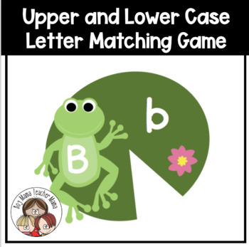 Upper and Lower Case Letters Frog and Lily  Pad Match