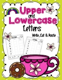 Upper and Lower Case Letters- Write, Cut and Paste