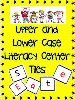 Upper and Lower Case Literacy Center Tiles