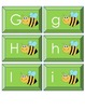 Upper and Lower Case Matching Cards- Bee Theme