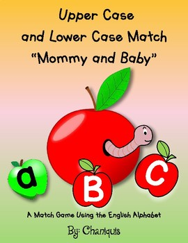 """Upper and Lower Case """"Mommy and Baby"""" Letter Match Game"""