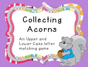 Alphabet letter matching: Collecting Acorns