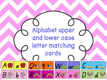 Upper and Lower case alphabet cards