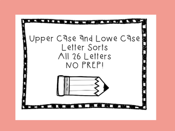 Upper and Lower case letter Cut and Sort