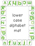 Upper and Lower case letter alphabet clothespin mats (20 mats included)