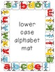 Upper and Lower case letter alphabet clothespin mats (20 m