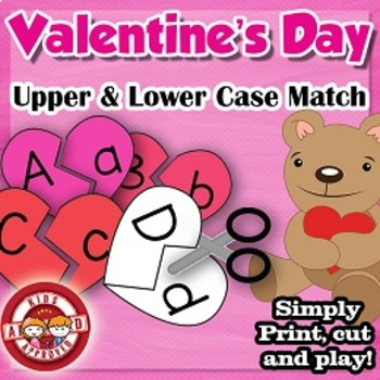 Upper and Lower case matching game for Valentine's Day