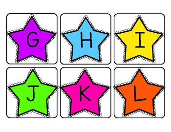 Upper and Lowercase Alphabet Cards for Pocket Charts & More!