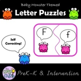 Upper and Lowercase Alphabet Matching Puzzles