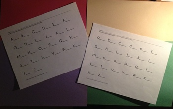 Upper and Lowercase Alphabet Stamping Templates