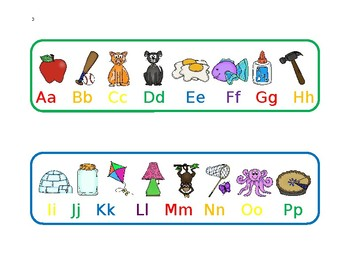 Upper and Lowercase Alphabet with Pictures
