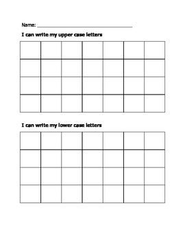 Upper and Lowercase Assessment