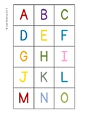 Upper and Lowercase Letter Cards