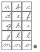 Upper- and Lowercase Letter Cursive Matching