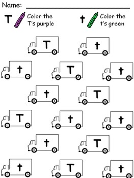 Alphabet Uppercase and Lowercase Coloring Worksheets
