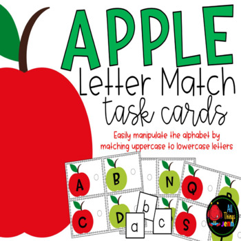 Upper and Lowercase Letter Match-Apples