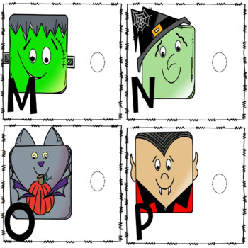 Upper and Lowercase Letter Match-Halloween