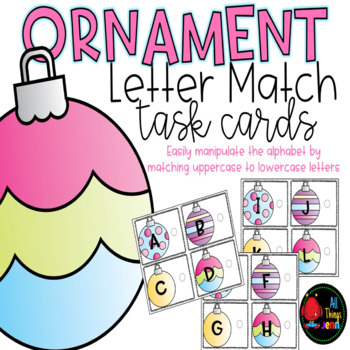 Upper and Lowercase Letter Match-Ornaments