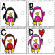 Upper and Lowercase Letter Match-Valentine Penguins