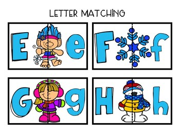 Upper and Lowercase Letter Match: Winter