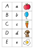 Upper and Lowercase Letter Match With Pictures