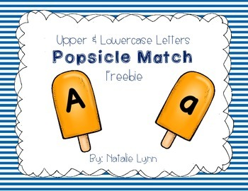 Upper and Lowercase Letter Popsicle Match Freebie