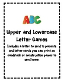 Upper and Lowercase Letter Recognition Games