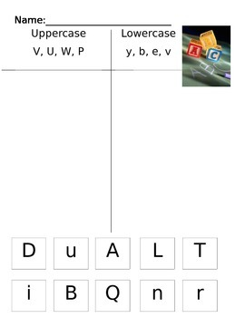 Upper and Lowercase Letter Sort